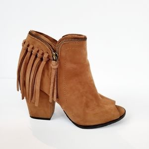 Dolce Vita Fringed Faux Suede Booties